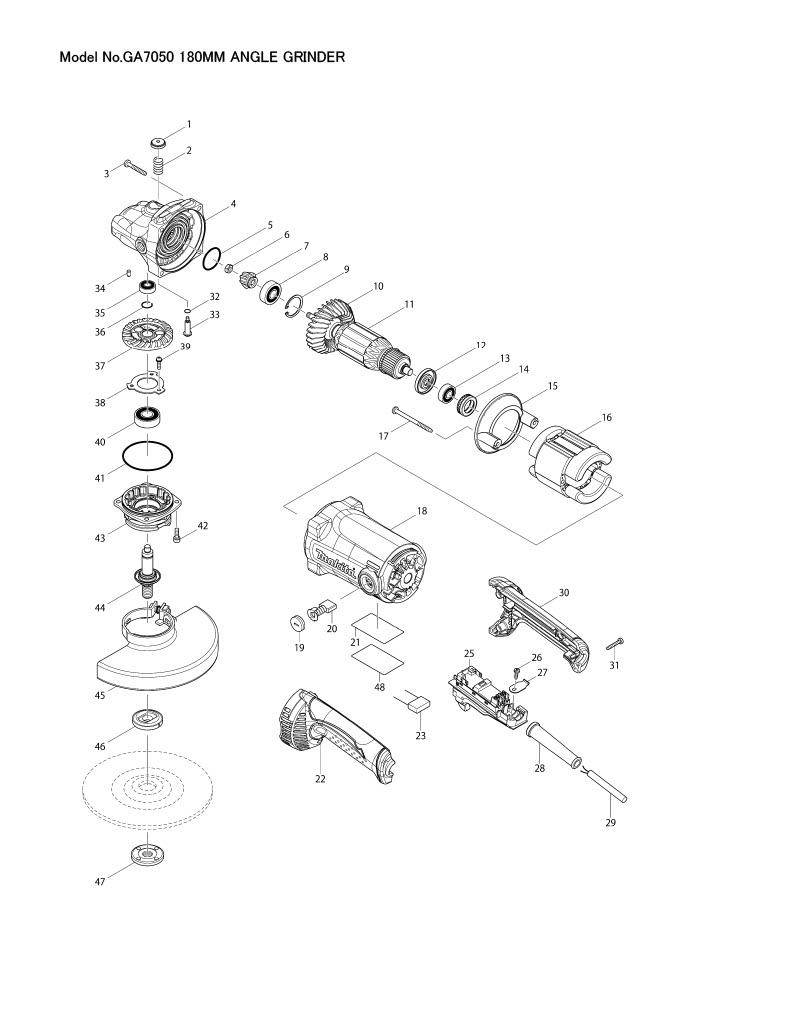 Part Diagram: GA7050 - Makita my