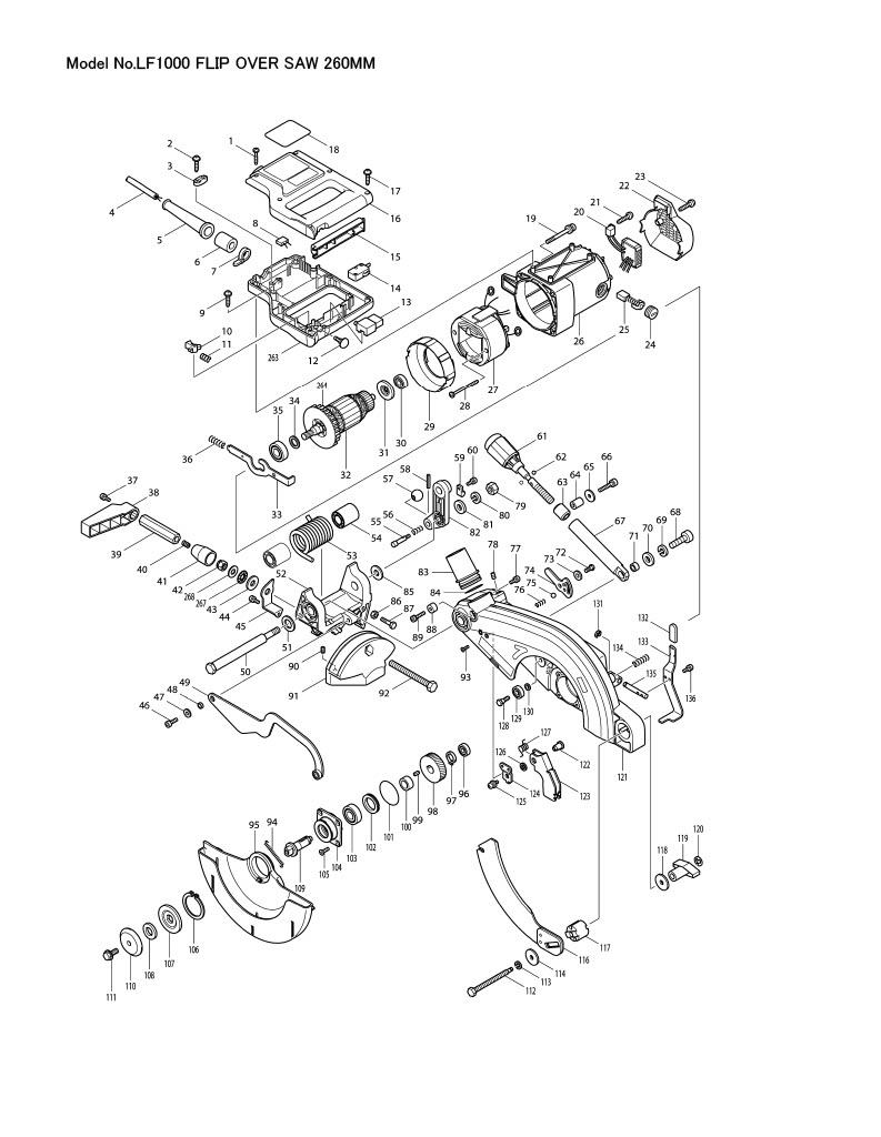 Makita MAKITA Screw CLAMP Complete LF1000 122728-1
